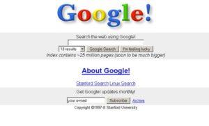 اولین دامنه گوگل